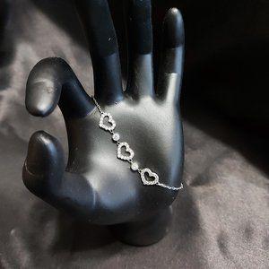"Charmed Aroma ""Silver"" Heart Bracelet"